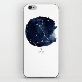 Zodiac Star Constellation - Pisces iPhone Skin