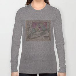Vintage Map of Connecticut (1857) Long Sleeve T-shirt