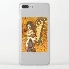 Vintage Geisha Artwork Clear iPhone Case