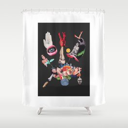 Pinup scamp Shower Curtain