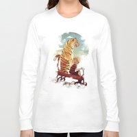 hobbes Long Sleeve T-shirts featuring boy and Tiger by Tintanaveia