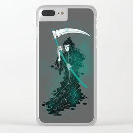 SPACE REAPER- halloween artwork death reaper Grim Reaper Clear iPhone Case