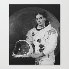 Frida in Space Canvas Print