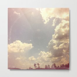 Summer Skies As Vintage Album Art Metal Print