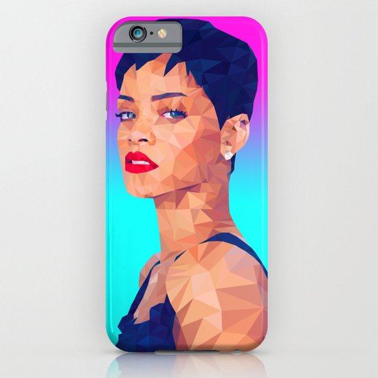 Rihanna LowPoly/ High Poly: Artists Collection iPhone & iPod Case