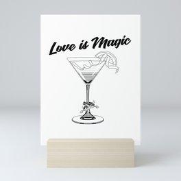 Love Is Magic Wedding Rings LGBT - COSMO GLASS Mini Art Print