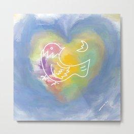 heart of bird Metal Print