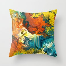 Mineral Series - Duftite Throw Pillow
