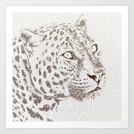The Intellectual Leopard Art Print