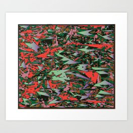 camo sharpening Art Print
