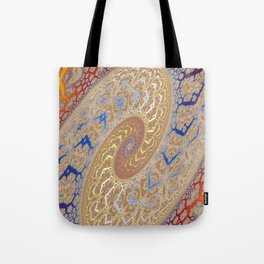 Fractal Double Spiral Tote Bag
