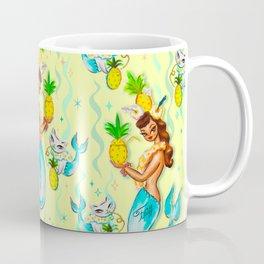 Tropical Pineapple Mermaid with Merkitties Coffee Mug