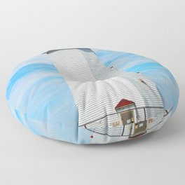 North Cape Lighthouse Floor Pillow