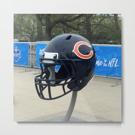 Bears Helmet Color Photo Metal Print