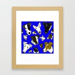 Smooth Fox Terrier Cobalt Framed Art Print