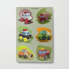 Toy Trucks!  Metal Print