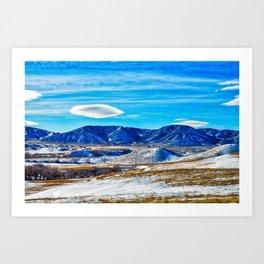 Wyoming Winter Nature Art Print