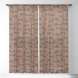 Dachshund, Wiener dog Sheer Curtain