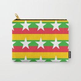 Flag of Myanmar 2-ဗမာ, မြန်မာ, Burma,Burmese,Myanmese,Naypyidaw, Yangon, Rangoon. Carry-All Pouch
