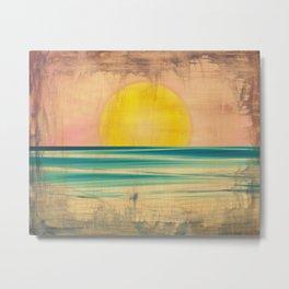 Ocean Sunset 1.0 Vintage Metal Print