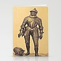 andreas preis Stationery Cards featuring Andreas Groll (photographer, 1812–1872): Armour / Rüstung by Ouijawedge