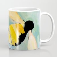 bees Mugs featuring Bees by Claire Whitehead