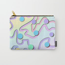 Unique Pastel Design with Squiggles and Dots! Carry-All Pouch