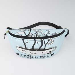 Coffee Time Plant Fanny Pack