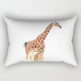 Giraffe Art - A Mother's Love - By Sharon Cummings Rectangular Pillow