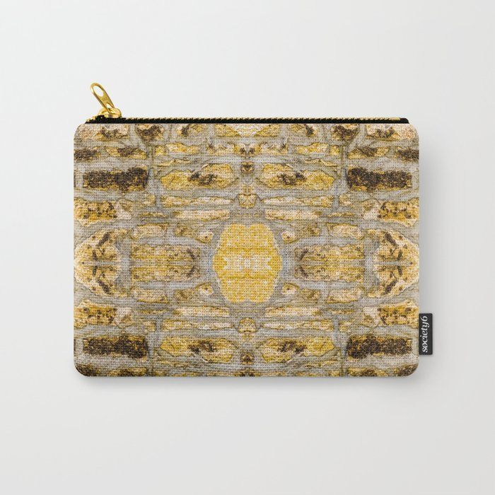 Stone Wall Pattern (yellow) Carry-All Pouch