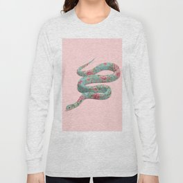 FLORAL SNAKE Long Sleeve T-shirt