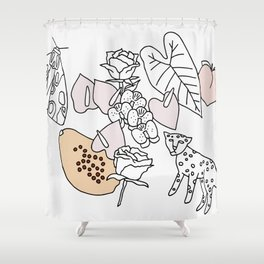 Jungle Friends Shower Curtain