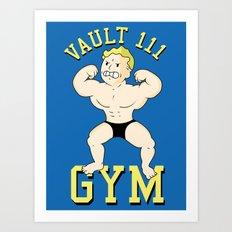 Vault 111 gym Art Print