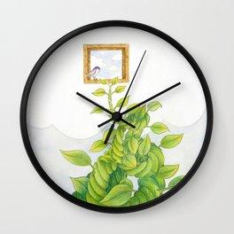 Sky Island Illustration #11 Wall Clock