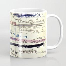 Library Card 828 The Enormous Room Coffee Mug
