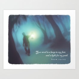 A Light for My Path Art Print