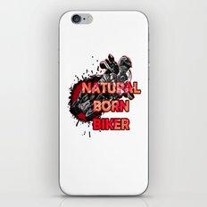 Natural Born Biker iPhone & iPod Skin
