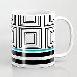 Black + White And Grid Coffee Mug