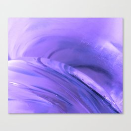 Violet and Blue Crystal Glass Abstract Canvas Print