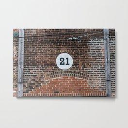 21 Metal Print