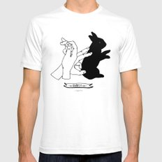 Hand-shadows Mr rabbit Mens Fitted Tee SMALL White