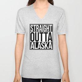 Straight Outta Alaska Unisex V-Neck