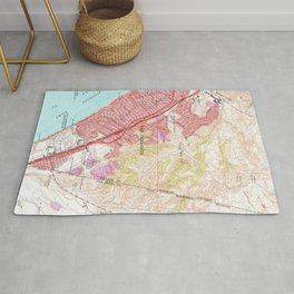 Vintage Map of San Clemente California (1968) Rug