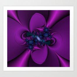 Purple and Blue Fractal 2 Art Print