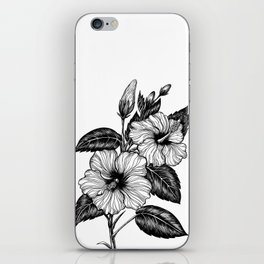 Hibiscus flower iPhone Skin