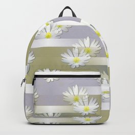 Mix of formal and modern with anemones and stripes 4 Backpack