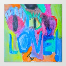 Summer Love | Painting by Elisavet Canvas Print