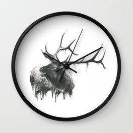 Bugle of an Elk Wall Clock