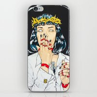 mia wallace iPhone & iPod Skins featuring Mother Mia (Mia Wallace) by Rob Regis | #ARTLORDXXX