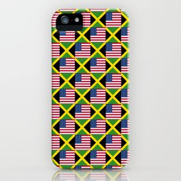 Mix of flag: Usa and jamaica iPhone Case